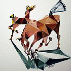 Triangle Mare and Foal Abstract by bjredmond