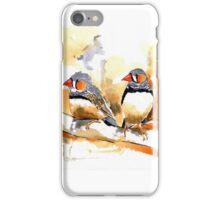 Zebra Finches iPhone Case/Skin