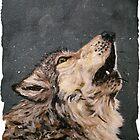 Howling Grey Wolf by bjredmond