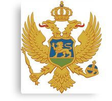 Coat of Arms of Montenegro  Canvas Print