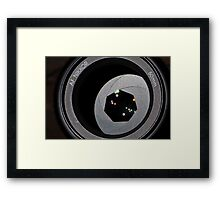 Fifty mil aperture stars Framed Print