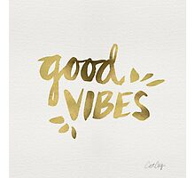 Good Vibes - Gold Ink Photographic Print
