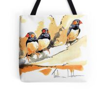 Zebra Finches on a branch Tote Bag