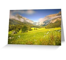 Summer meadow in the alps Greeting Card