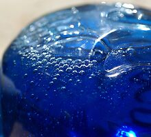 Blue soap bubbles by walstraasart