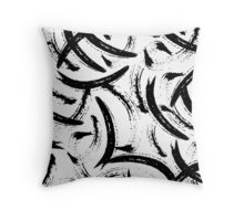 Isobel - Black and white minimal modern urban city brooklyn abstract painting art design hipster Throw Pillow