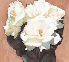 White Roses by Ken Powers