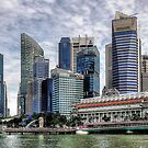 Singapore skyline by Adri  Padmos