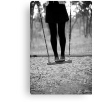 on swing Canvas Print