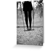 on swing Greeting Card