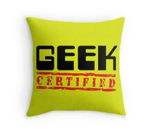 Certified Geek Throw Pillow