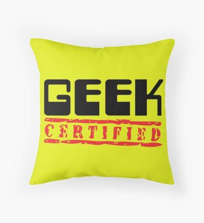 Certified Geek Throw Pillow