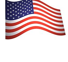 AMERICA, American Flag, Fly the Flag, Flutter, Stars & Stripes, USA by TOM HILL - Designer
