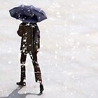 Man with Black Umbrella by Alistair Parker