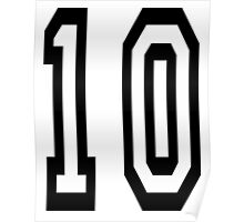 10, TEAM SPORTS NUMBER, TEN, TENTH, Competition Poster