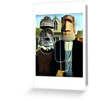 Easter Island Gothic Greeting Card