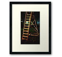 Night slide in Wakarusa Framed Print