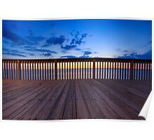 Sunset at the pier. Poster