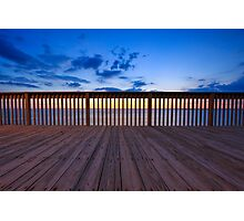 Sunset at the pier. Photographic Print