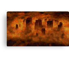 Stonehenge from Above by Sarah Kirk Canvas Print