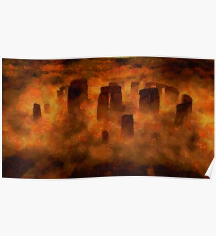 Stonehenge from Above by Sarah Kirk Poster