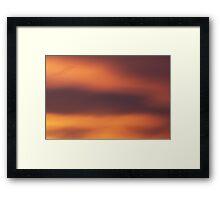 Playful sunset Framed Print