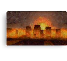 Stonehenge by Sarah Kirk Canvas Print