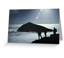 Snowdon Cloud Inversion Greeting Card