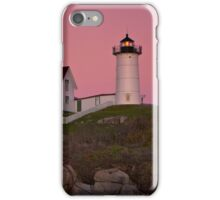 Nubble Lighthouse with Pink Sky, Sunset iPhone Case/Skin