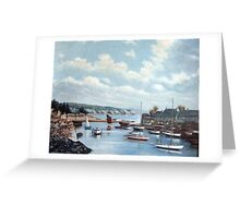 Abersoch Harbour By Major Bond Greeting Card