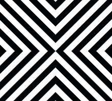 Black & White Simple Pattern by MyArt23