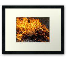 Burning Brush Framed Print