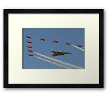 Red Arrows and Vulcan flypast Framed Print