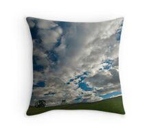 Corgarff Castle under clouds Throw Pillow