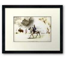 Watercolor of a  Knight Framed Print