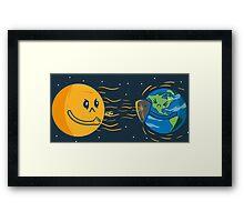 Solar wind attack! Framed Print