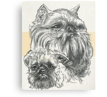 Brussels Griffon Father & Son Metal Print
