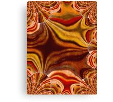 abstract stripes in shades of brown Canvas Print