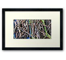 Purple Beans Framed Print
