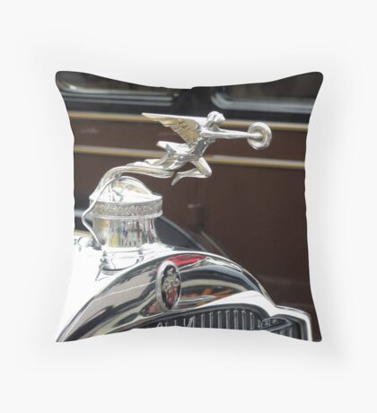 Hood Ornament from Yesteryear Throw Pillow