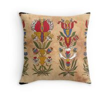 Flowers from the Ephrata Cloister Throw Pillow
