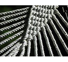 Hammock Rope Photographic Print