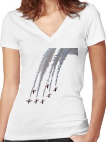 Red Arrows - Smokin! Women's Fitted V-Neck T-Shirt