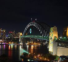 Sydney harbour bridge, NYE 2009/10 by ajhb89