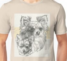 Chihuahua Father & Son (Long-haired) Unisex T-Shirt