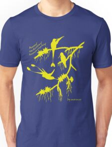 Yellow booted rackettail hummingbird Unisex T-Shirt