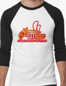 Sticker! Midgar Derby Men's Baseball ¾ T-Shirt