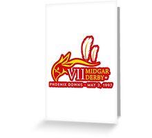 Sticker! Midgar Derby Greeting Card