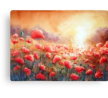 Dancing in the Evening light Canvas Print