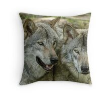 Glued to the hip! Throw Pillow